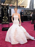 1. Jennifer Lawrence in Christian Dior Haute Couture at the Academy Awards
