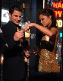 Nick and Vanessa Lachey shared glasses of bubbly during MTV's New Year's Eve party in Times Square in NYC back in 2007.