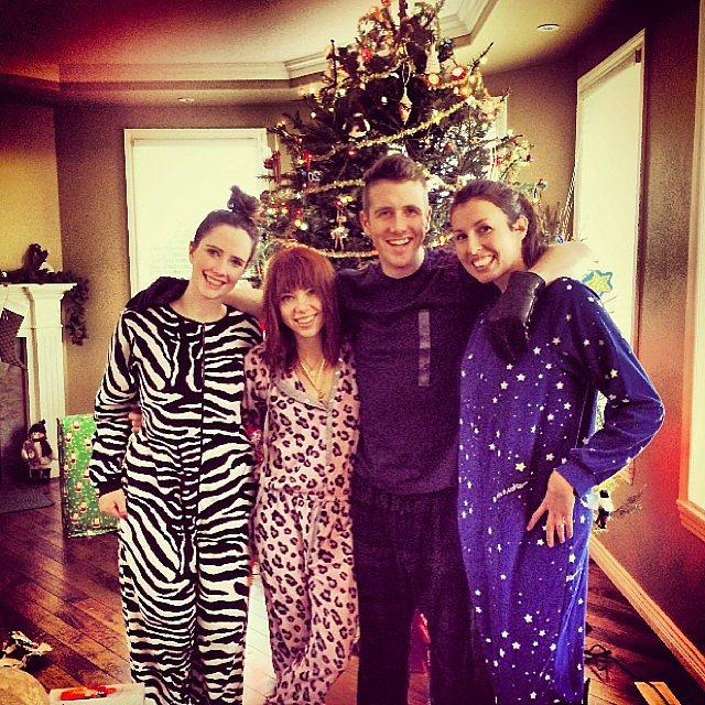 Carly Rae Jepsen's family wore onesies. Source: Instagram user carlyraejepsen