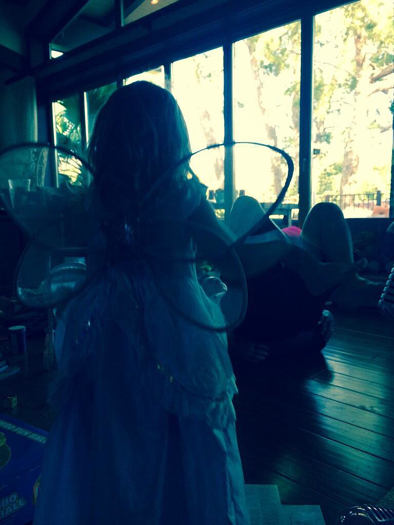 It was a magical Christmas for Willow Hart in her fairy princess costume. Source: Twitter user Pink