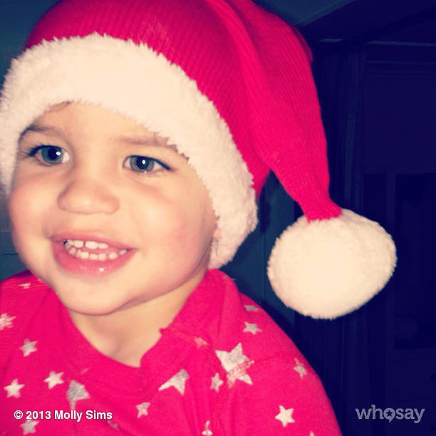 Brooks Stuber got into the Christmas spirit. Source: Instagram user mollybsims