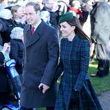 Prince William and Kate Middleton on Christmas Day 2013