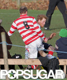 Prince William and Prince Harry went head to head in a soccer game over the Christmas holiday.