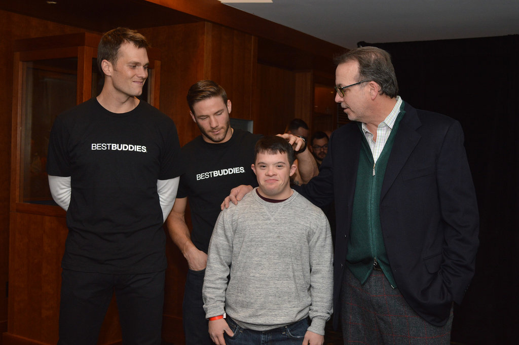 Tom stepped out for the Best Buddies Challenge.