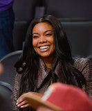 Gabrielle was all smiles while cheering on her fiancé, Dwyane Wade.