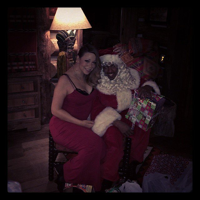 Mariah Carey snapped a photo with an awfully familiar-looking Santa Claus. Source: Instagram user mariahcarey