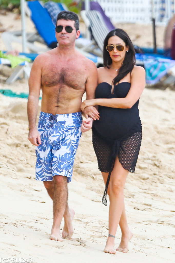 Simon and Lauren Bring Their Baby Joy to Barbados