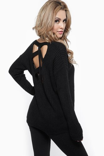 Loose Knit Skeleton Back Sweater @ Cicihot Clothing,sexy club wear,women's party wear,sexy clothes,evening dress,v neck sweater