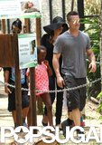 Angelina and Brad walked with Zahara, Maddox, and Pax.