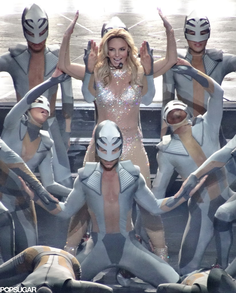 Britney Spears was all smiles for her big night.