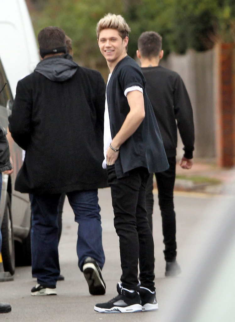 Niall Horan smiled while he was out in London.