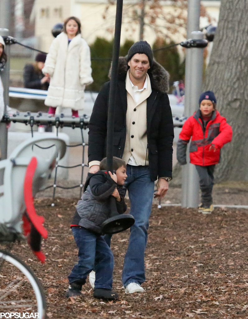 Tom smiled at his son on the playground.