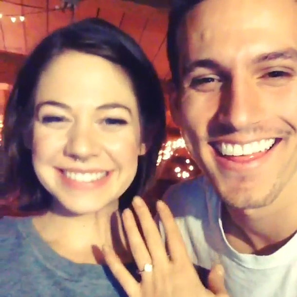 Former America's Next Top Model contestant Analeigh Tipton shared an adorable (and accidental) Instagram video with her new fiancé, Aaron McManus. The couple got engaged after dating for six years! Source: Instagram user ohanaleigh