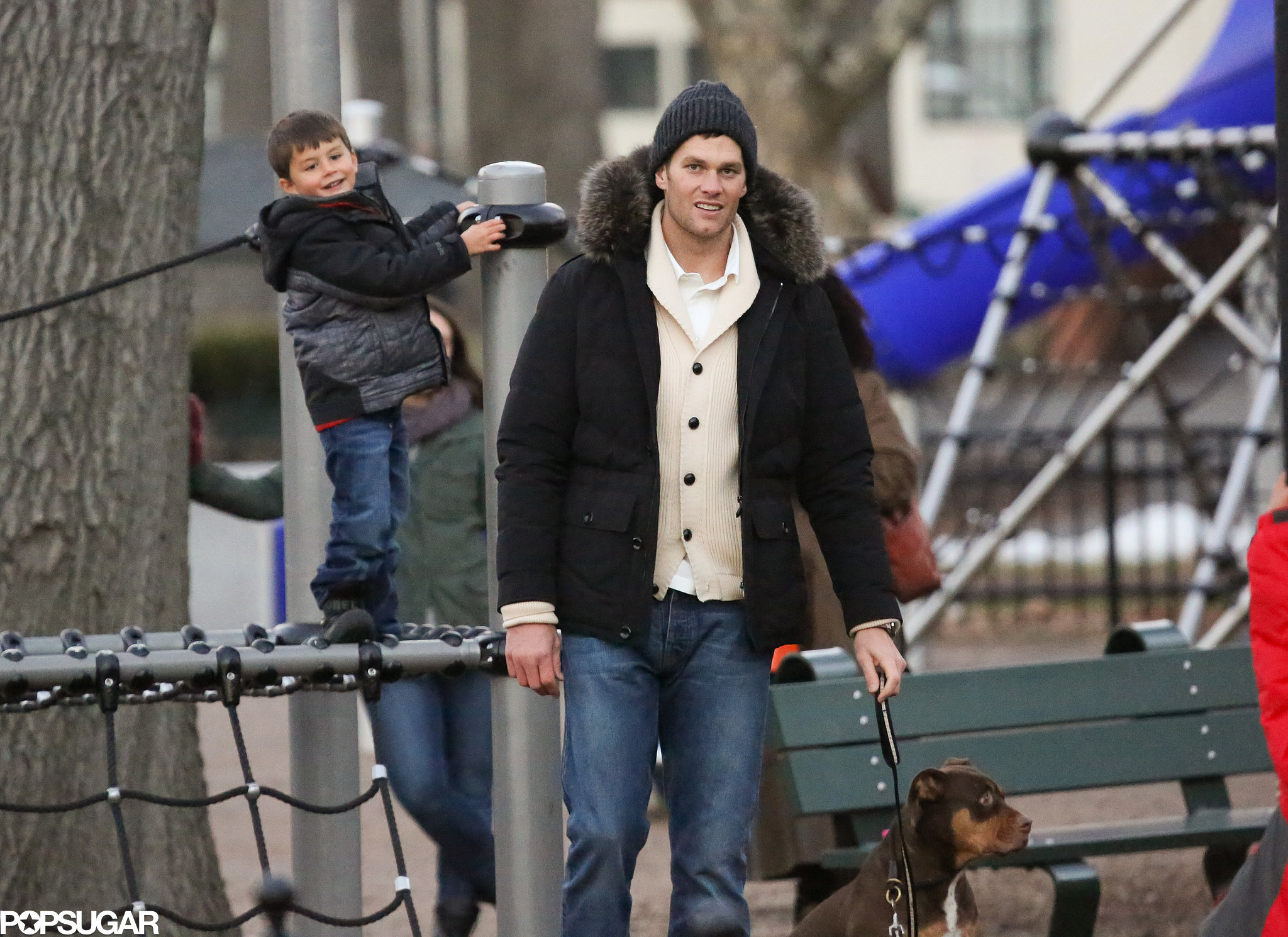 Tom Brady Had A Fun Filled Saturday At A Boston Park With