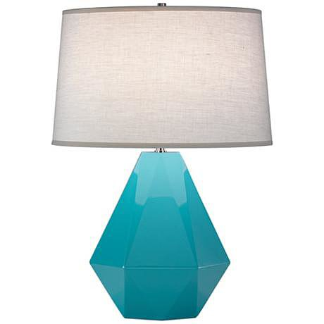 The geometric shape and dazzling array of color choices are what make this Robert Abbey Table Lamp ($167) a real gem. Whether it's on or off, the egg-blue lamp base adds a pop of brightness for instant cheer.  — AE