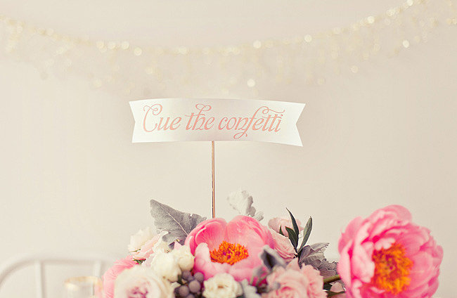 Then cue the confetti! Photos by nbarrett photography via Green Wedding Shoes