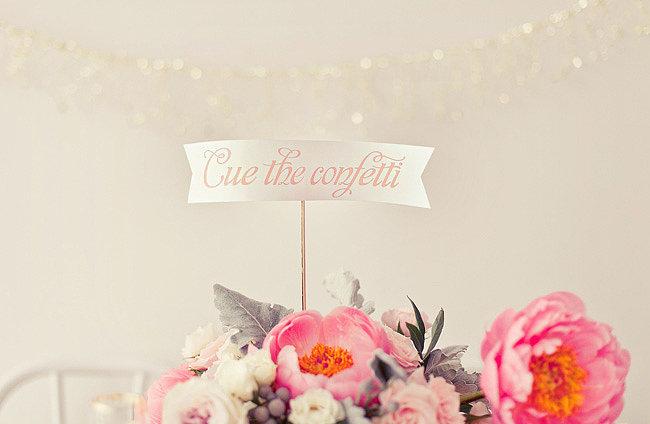 Then cue the confetti! Photos by nbarrett photography via Green Wedding Shoes