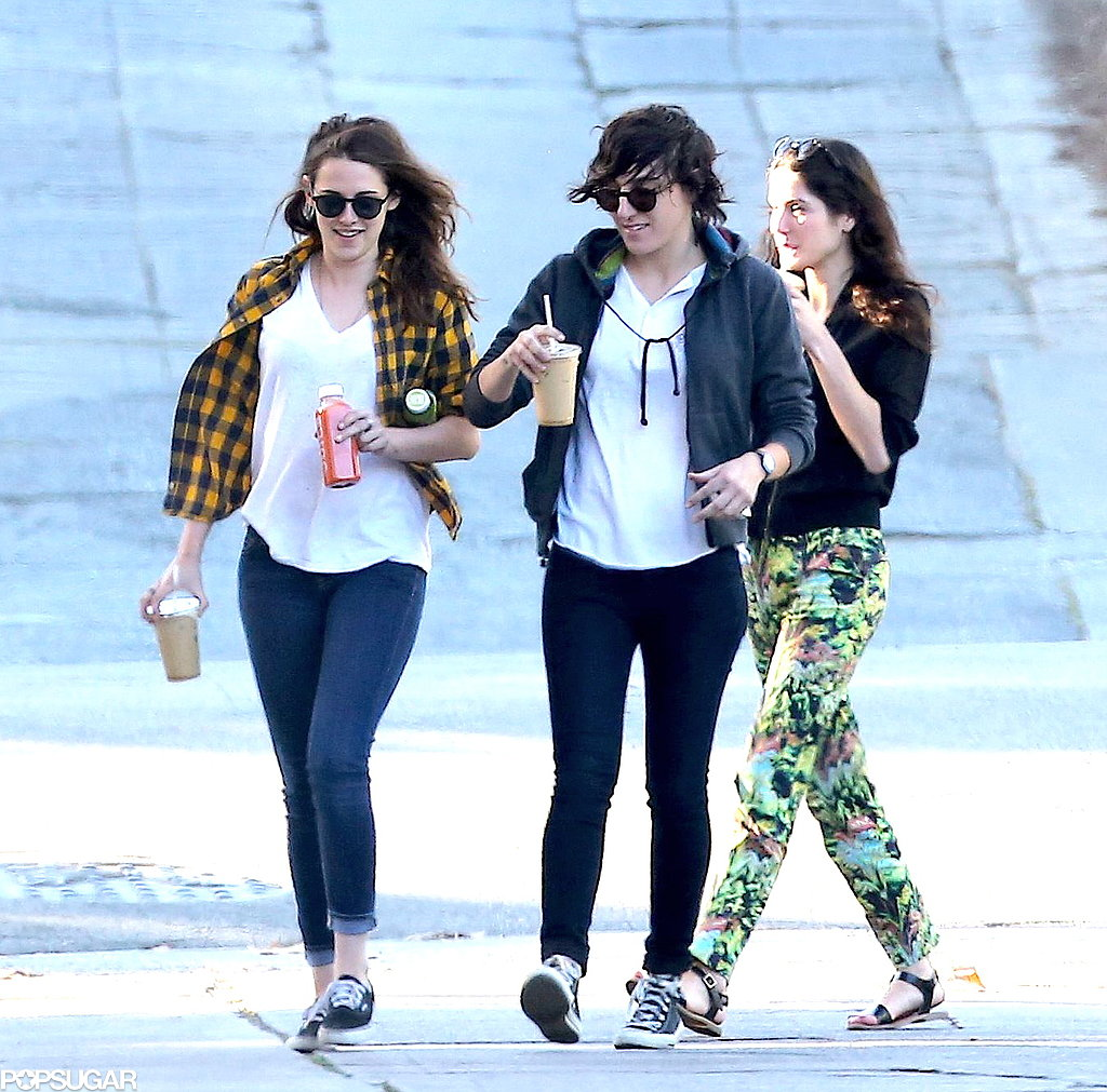 Kristen and her friends had a coffee break.