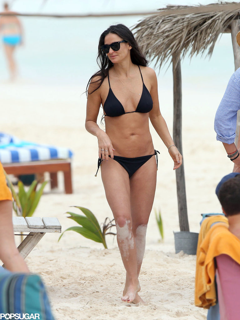 Demi showed off her figure in a bikini.