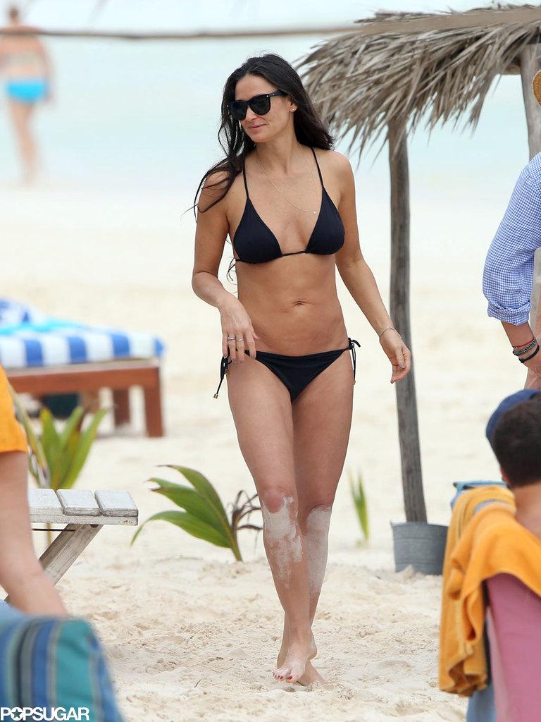 Demi showed off her figure in a bikini.