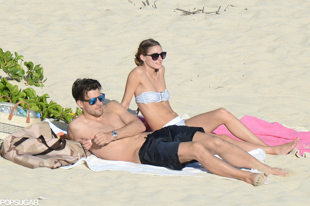 Olivia Palermo lounged on the beach in St. Barts with her boyfriend, Johannes Huebl.