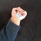 Kim Kardashian ended 2013 with a photo of her daughter, North West, holding the Lorraine Schwartz engagement ring fiancé Kanye West gave her.  Source: Instagram user kimkardashian