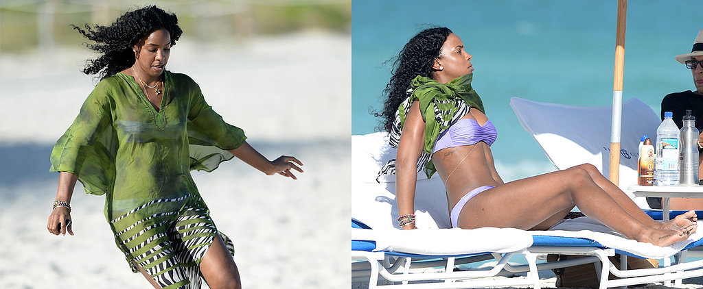 Kelly Rowland's Bikini Beach Day Is Anything But Boring