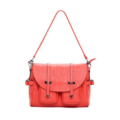 Image of [grxjy520237]Stylish Candy Colors Preppy Magnetic Button Flap Shoulder Messenger Bag