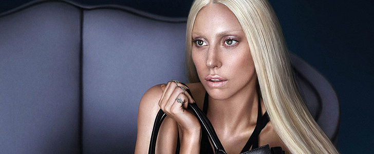 Shocking! Lady Gaga Goes Topless in New Versace Ad