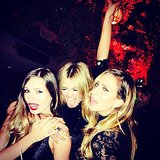 Girls' night out! Close friends Danielle Foote (from 2006's Big Brother Australia), Delta Goodrem and Renee Bargh rung in the New Year together. Source: Instagram user reneebargh