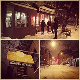 Six a.m. in a blizzard? People still line up for Cronuts!  Source: Instagram user jammygan