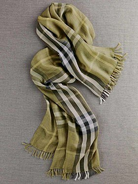 Pendleton Yellow Plaid Scarf