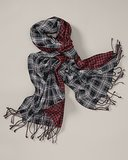 Eddie Bauer Double-Sided Plaid Scarf