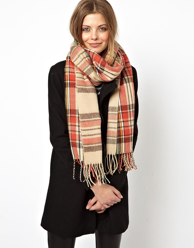 ASOS Red and Orange Plaid Scarf