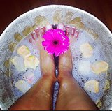 A relaxing foot soak was the perfect start to a new year for Chanel Iman. Source: Instagram user chaneliman