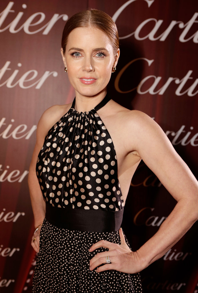 Amy Adams wore a polka-dot look by Juan Carlos Obando.