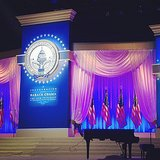 Sneak peek at the Inaugural Ball stage!