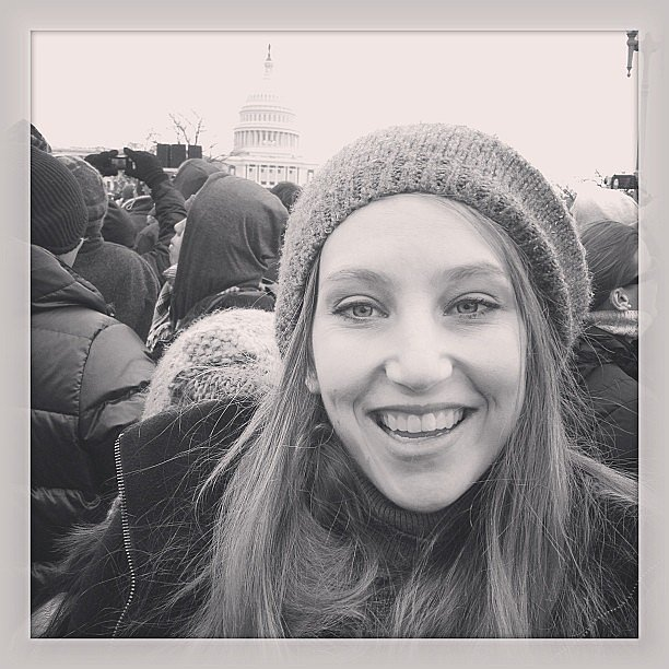 At the Inauguration.