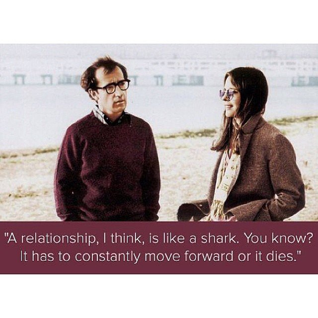 What's your favorite love quote from a Woody Allen movie?