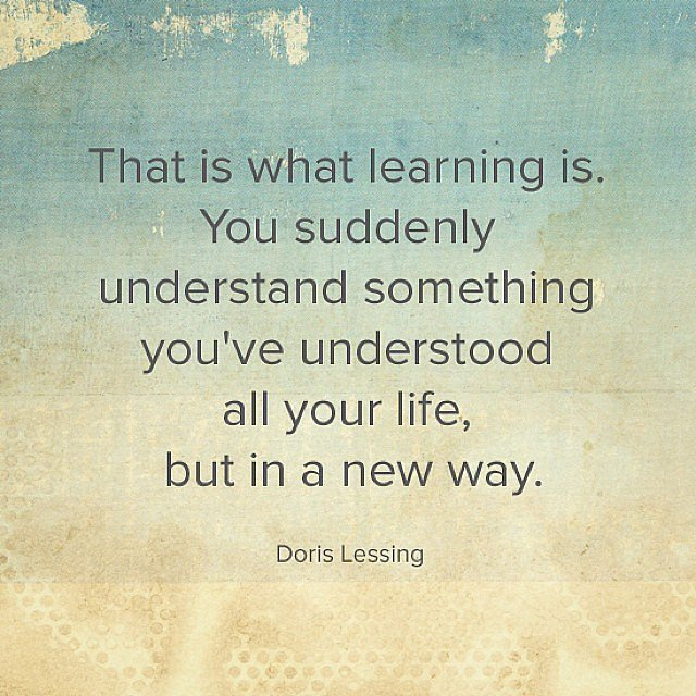 Inspirational words from Doris Lessing.