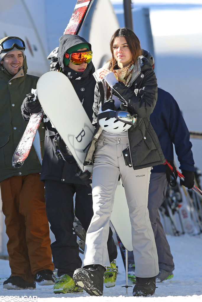 Harry spoke with Kendall during their stroll in the snow.
