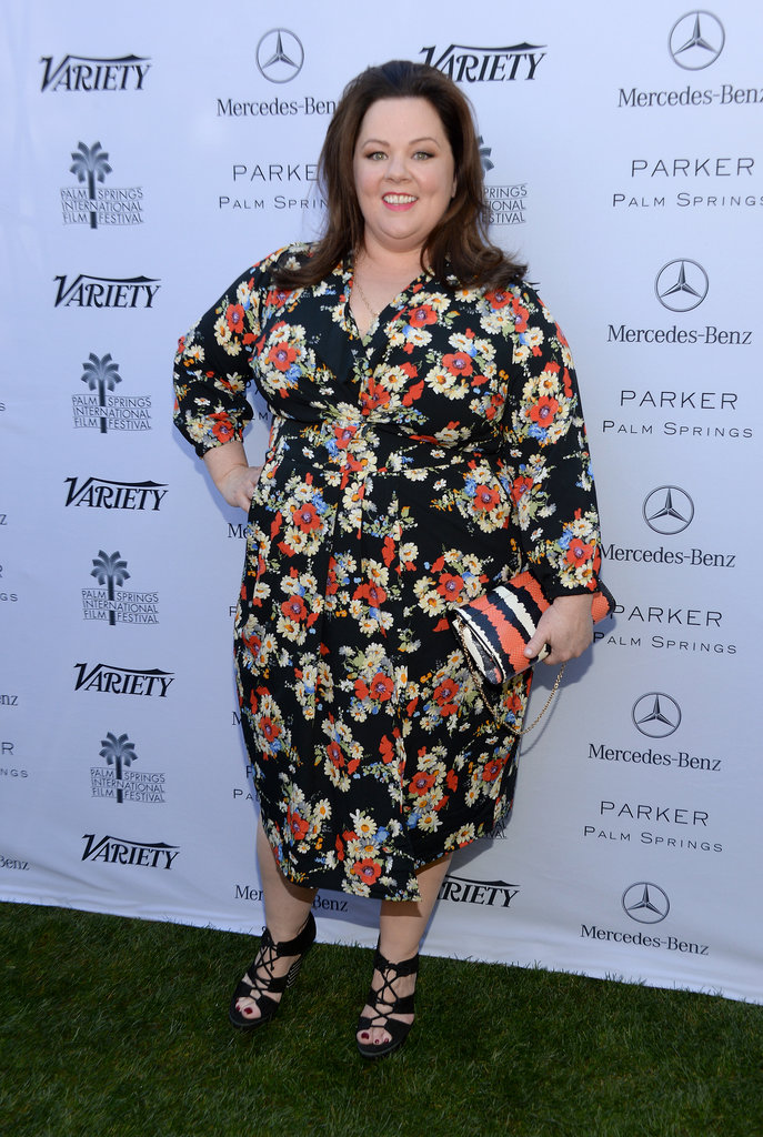 Melissa wore a floral dress to the event.