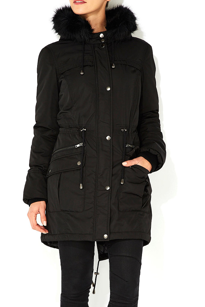 Wallis Black Parka Coat ($88, originally $130)