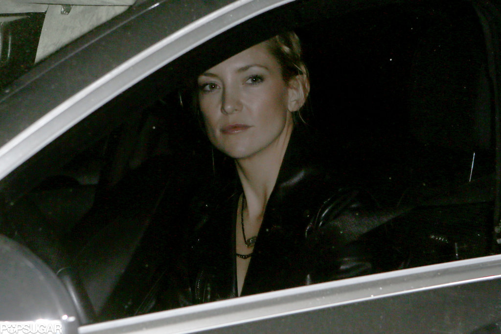 Kate Hudson drove to the 39th birthday bash.