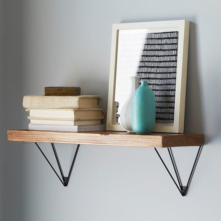 Showcase your decorative gems with these sculptural Prism Brackets and Shelving ($58-$98).