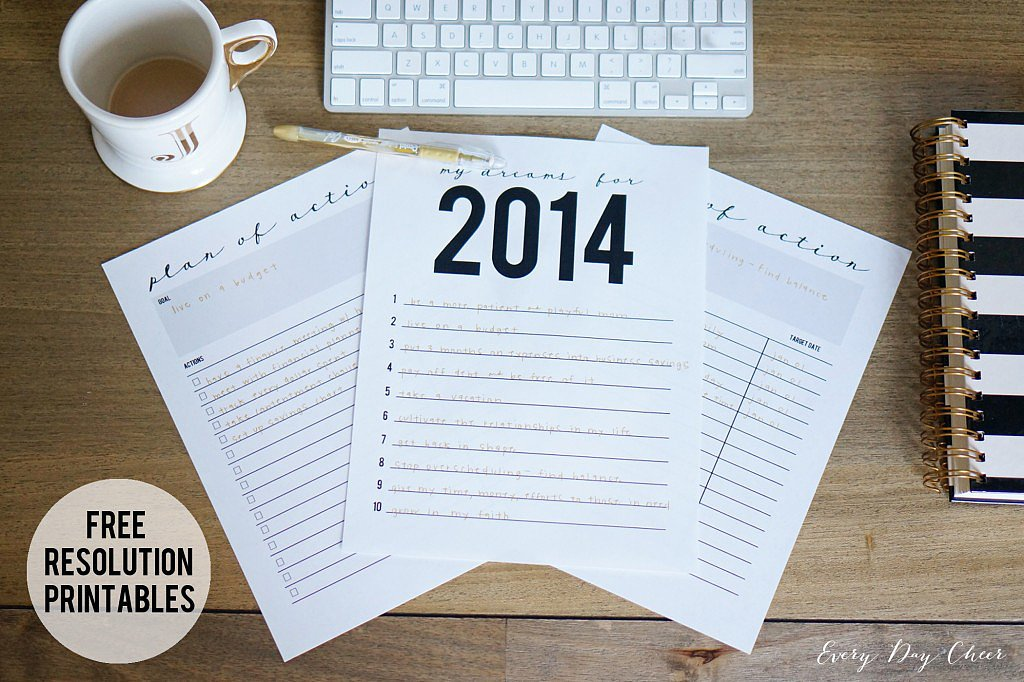 Numbered Resolutions and Plan of Action Printables