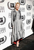 The actress wowed at the New York Film Critics Circle Awards in a metallic, ladylike tea-length dress and a coordinating bolero.