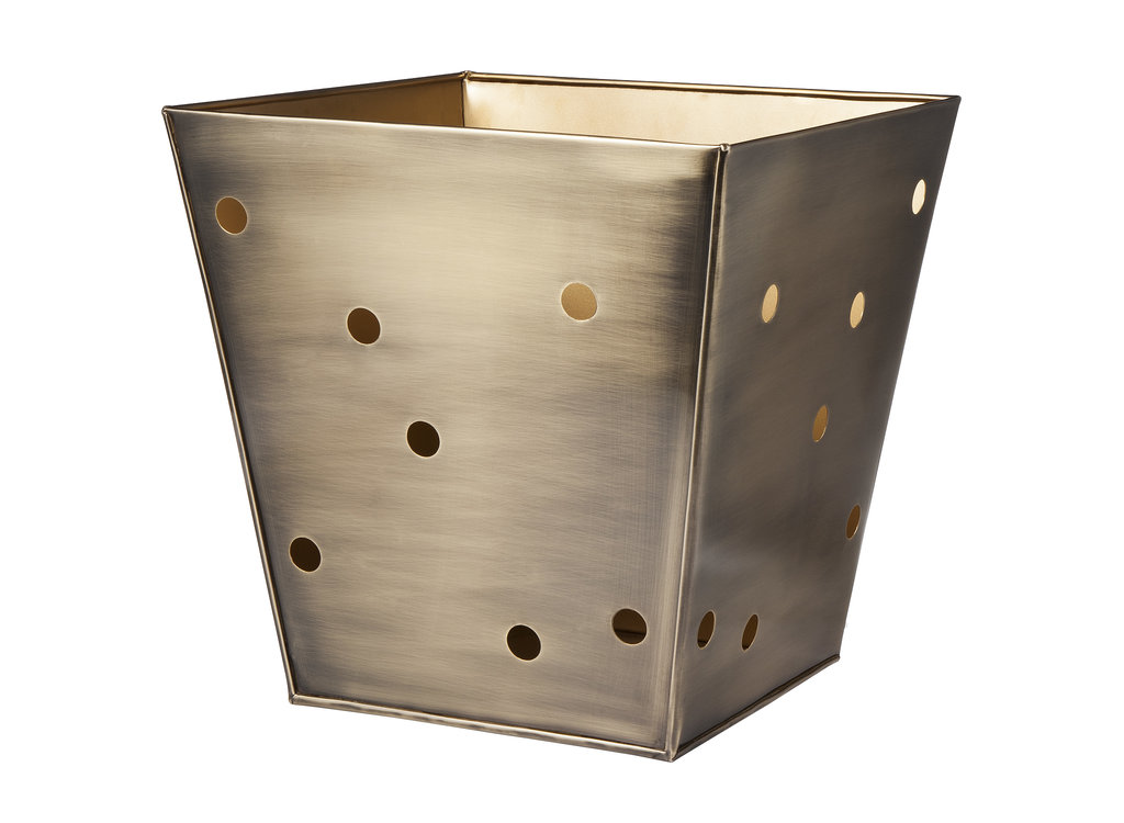 Stylishly contain your clutter with this Metal Decorative Storage Bin $40.