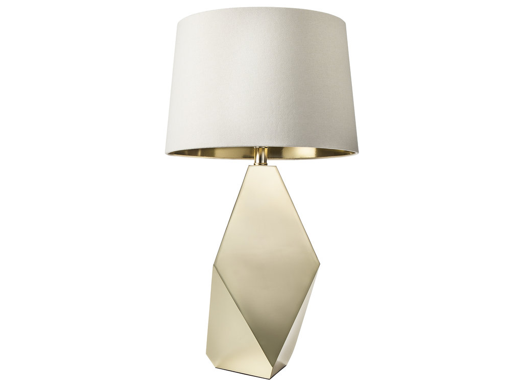Gold Table Lamp Base ($55) and Gold Lining Lamp Shade ($25)