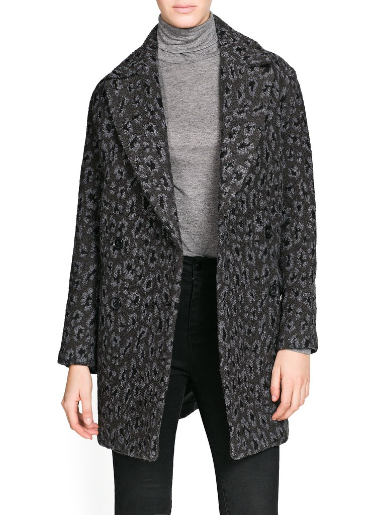 Mango Leopard-Print Oversize Wool-Blend Coat ($90, originally $190)